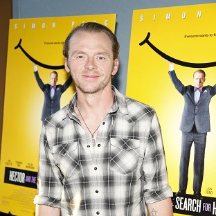 Simon Pegg says he likes to push himself outside of his comfort zone
