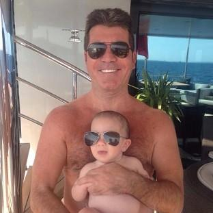 Eric Cowell takes after his father (Simon Cowell/Twitter)