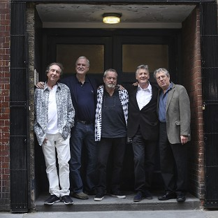 Eric Idle, John Cleese, Terry Gilliam, Michael Palin and Terry Jones appeared in the Monty Python farewell show, which w