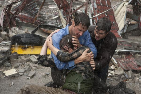 THERE'S no shelter from the storm for Donnie (Max Deacon), Gary (Richard Armitage) or Trey (Nathan Kress).