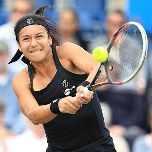 Heather Watson lost her opening US Open match