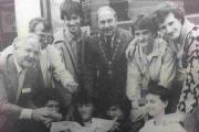 RUSSIAN chess players enjoy fish and chips with Mayor Cllr Peter Bowell.