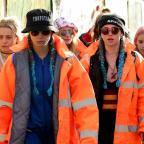 Burnham and Highbridge Weekly News: Here's Cara Delevingne and Suki Waterhouse attempting to blend in with the crowd at Glastonbury