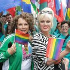 Burnham and Highbridge Weekly News: In The Name of Pride: Patsy and Edina are Absolutely Fabulous as they pose up a storm