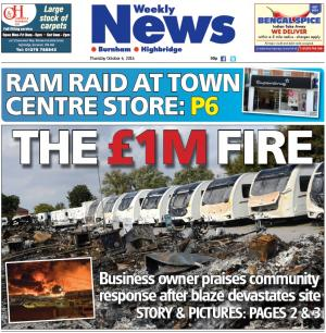 Burnham and Highbridge Weekly News: Owner's thanks to community after caravan site inferno destroyed 160 caravans