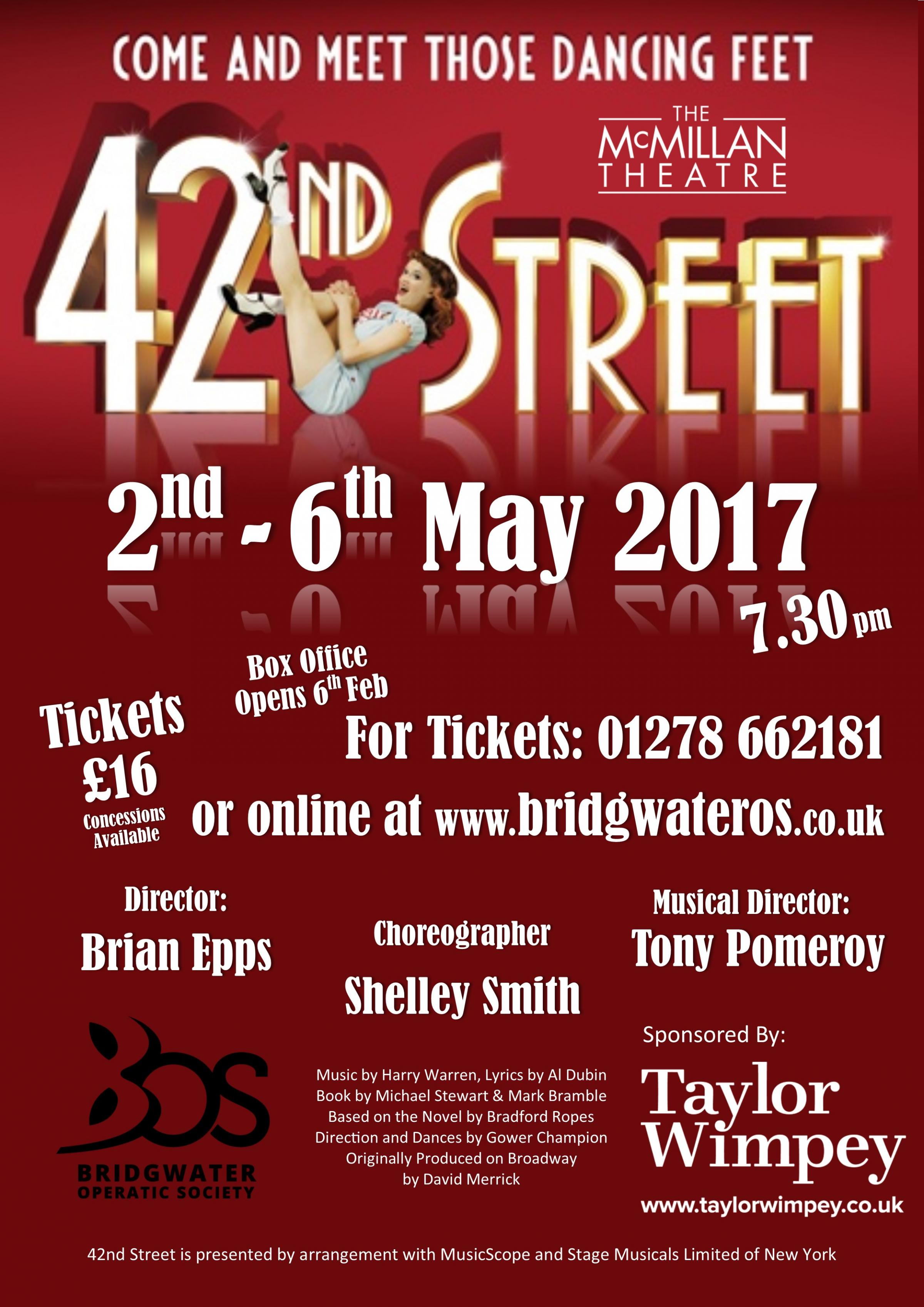 Bridgwater Operatic Society present  42nd Street.