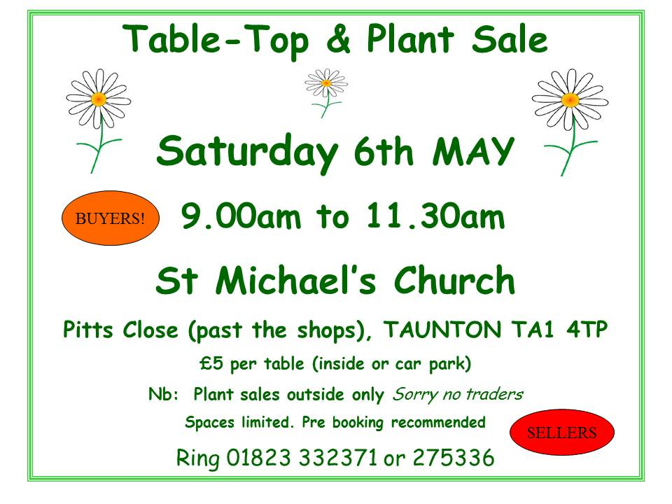 St Michael's Annual Plant & Table Top Sale
