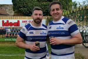 SURVIVAL: Tim Piper and Alan House of Burnham-on-Sea Rugby Club.