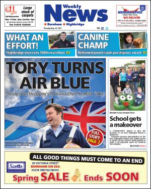 Burnham and Highbridge Weekly News: TORY TURNS AIR BLUE: James Heappey 'sorry' for foul-mouthed 'joke'