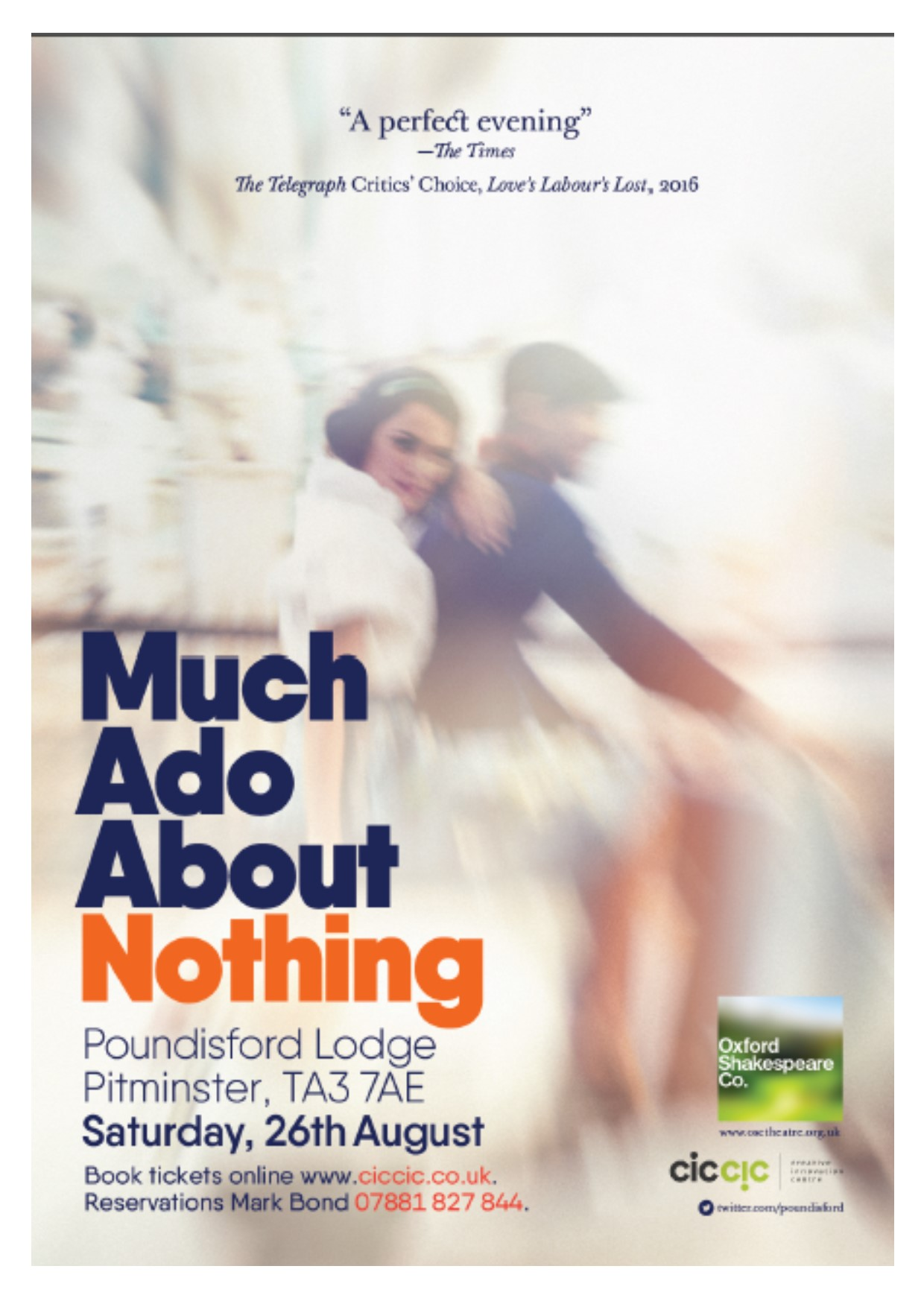 "OSC present ""Much Ado About Nothing"" at Poundisford Lodge – Saturday 26th August 2017"