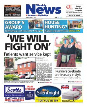 Burnham and Highbridge Weekly News: WE WILL FIGHT ON: Patients want warfarin service kept on