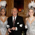 Burnham and Highbridge Weekly News: Bruce Forsyth joined by Miss Puerto Rico (left) and Miss England to celebrate his 80th birthday at the Dorchester Hotel (Anthony Devlin/PA Wire/PA Images)