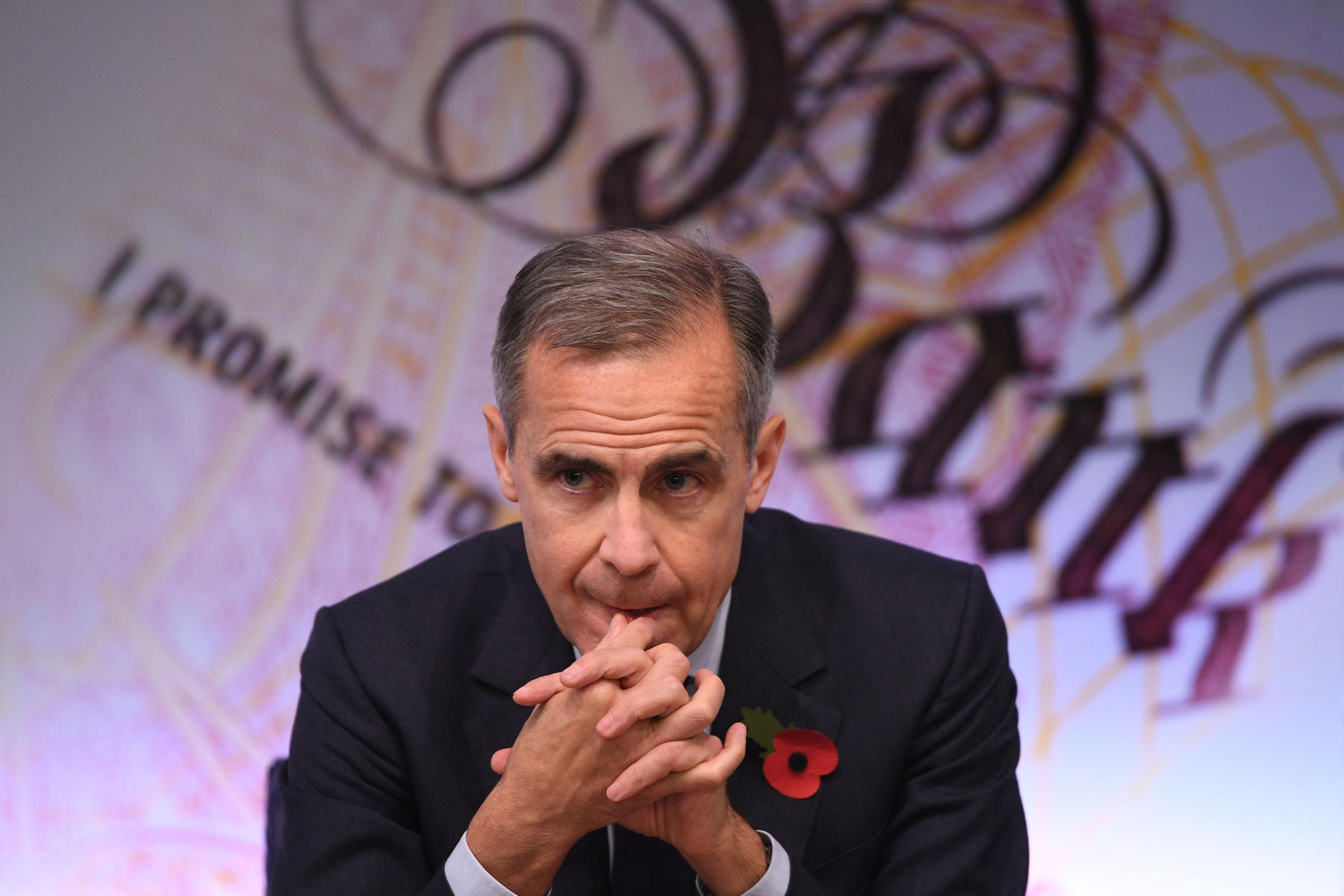 RATE RISE: Mark Carney, the Governor of the Bank of England