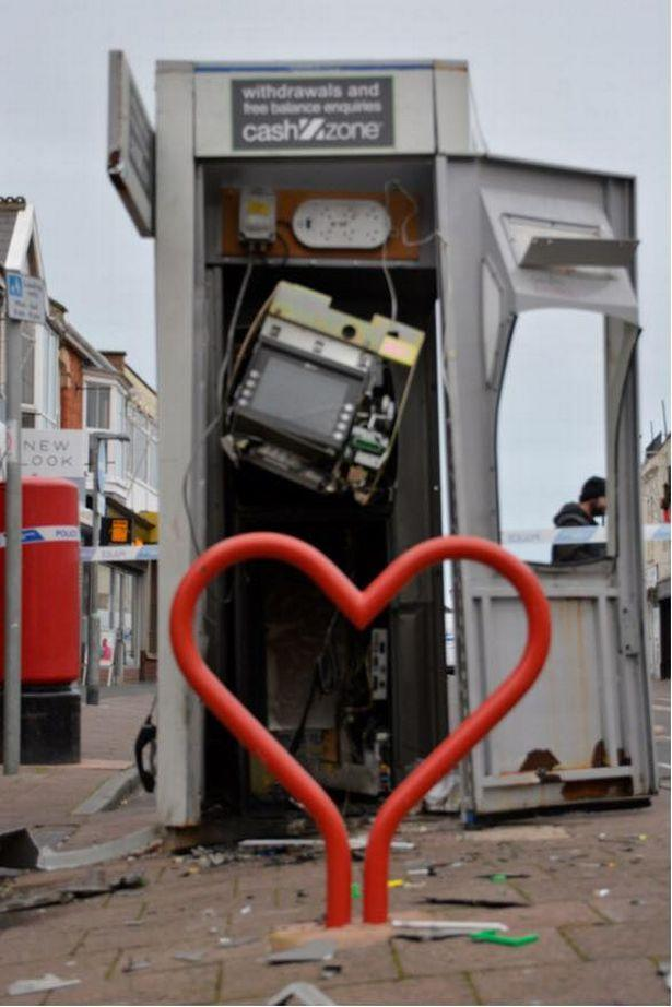 BT and Cashzone confirm ransacked cash machine will not be replace in Burnham-on-Sea
