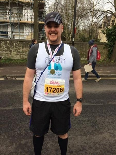 RUNNING FOR CHARITY: Michael Frost from Burnham-on-Sea