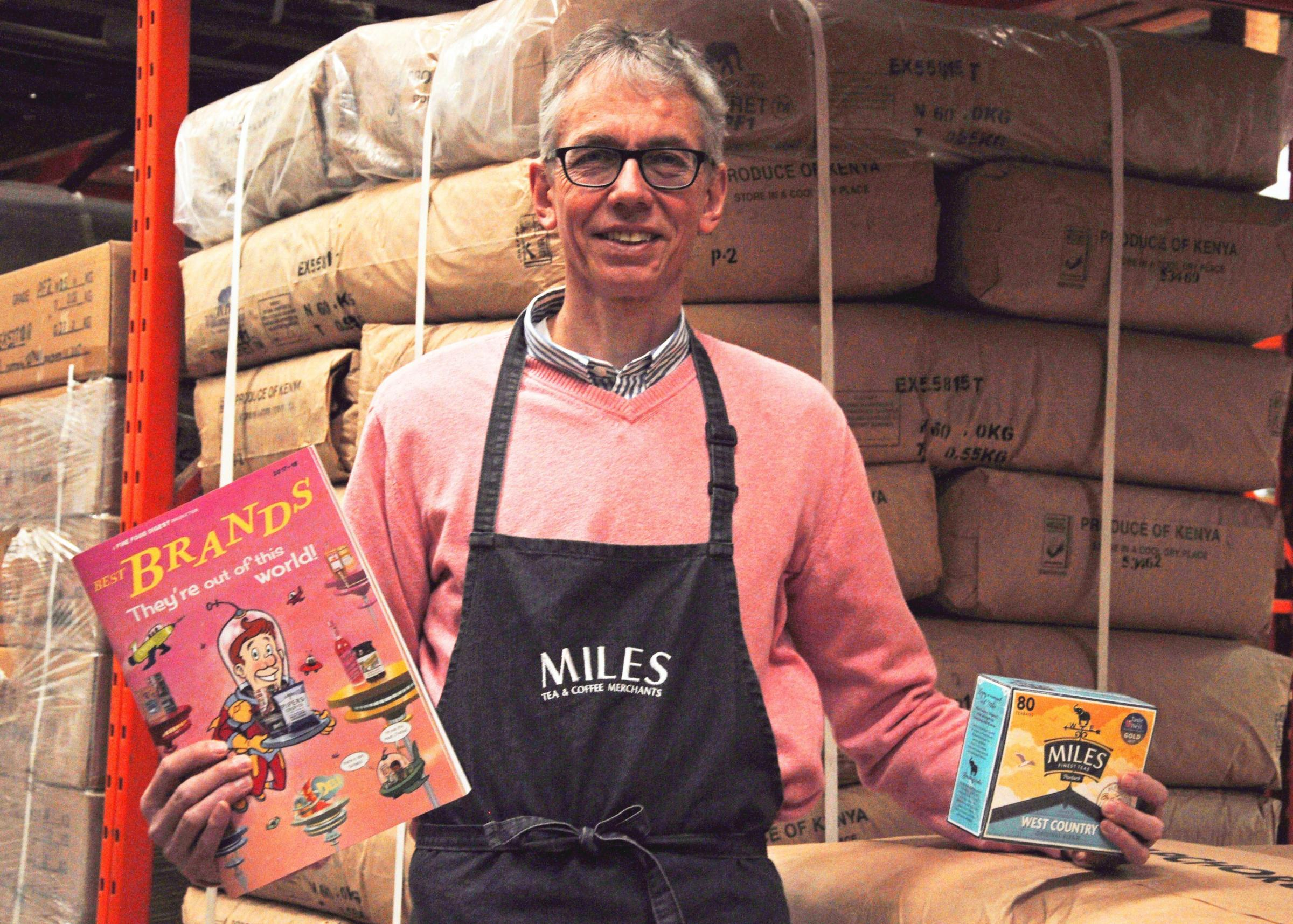 CELEBRATION: John Halls, operations manager for Miles Tea & Coffee