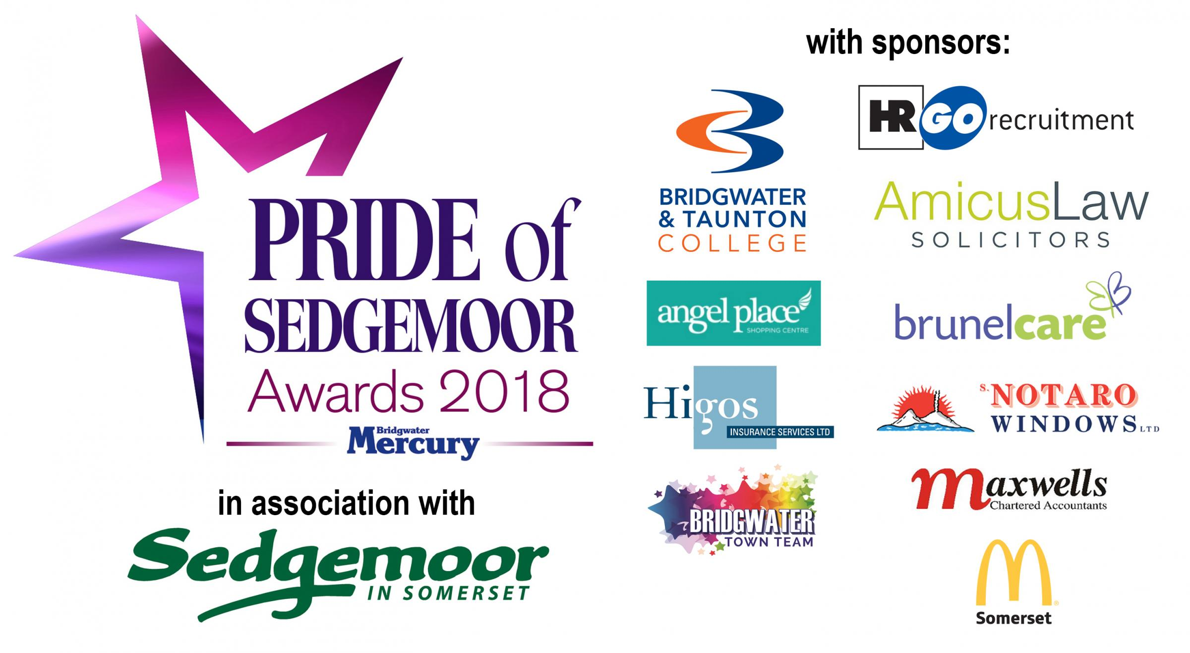 Burnham and Highbridge Weekly News: Pride of Sedgemoor Awards 2018 - with the Bridgwater Mercury and Burnham and Highbridge Weekly News
