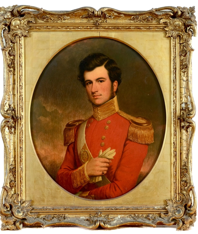 OF LOCAL INTEREST: Portrait of a British Army Officer – Charles Jeffreys Watson Allen (1832-1893) son of John Roy Allen of Lyngford, Taunton, was bought for £1,230 at Greenslade Taylor Hunt's recent collectors sale