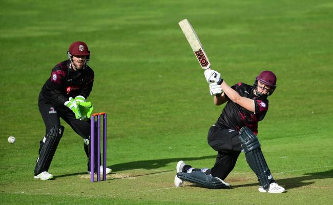 DEBUTANT: Tom Lammonby took 1-35 on his Somerset debut. Pic: Alex Davidson/SCCC