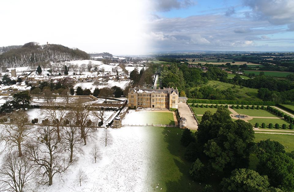 STUNNING: The composite image of Montacute House, Somerset, by Nigel Sharman