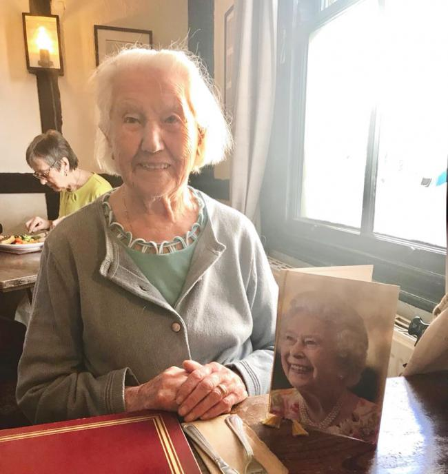 BIRTHDAY GIRL: Margaret Reed celebrates her 108th birthday in style