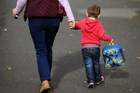 CARE: The scheme offers families 30 hours a week of free childcare