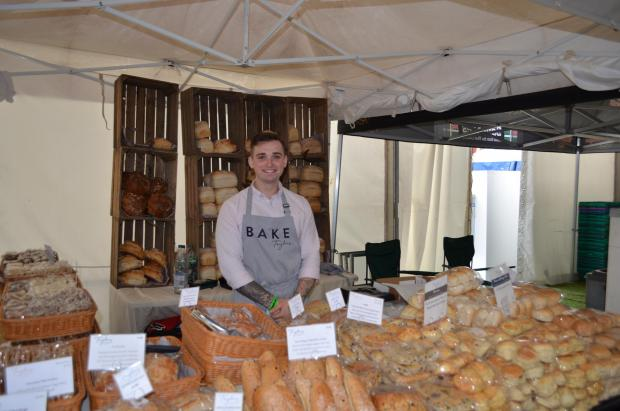 Burnham and Highbridge Weekly News: FOOD STALLS: Taylors of Bruton serving fresh bread