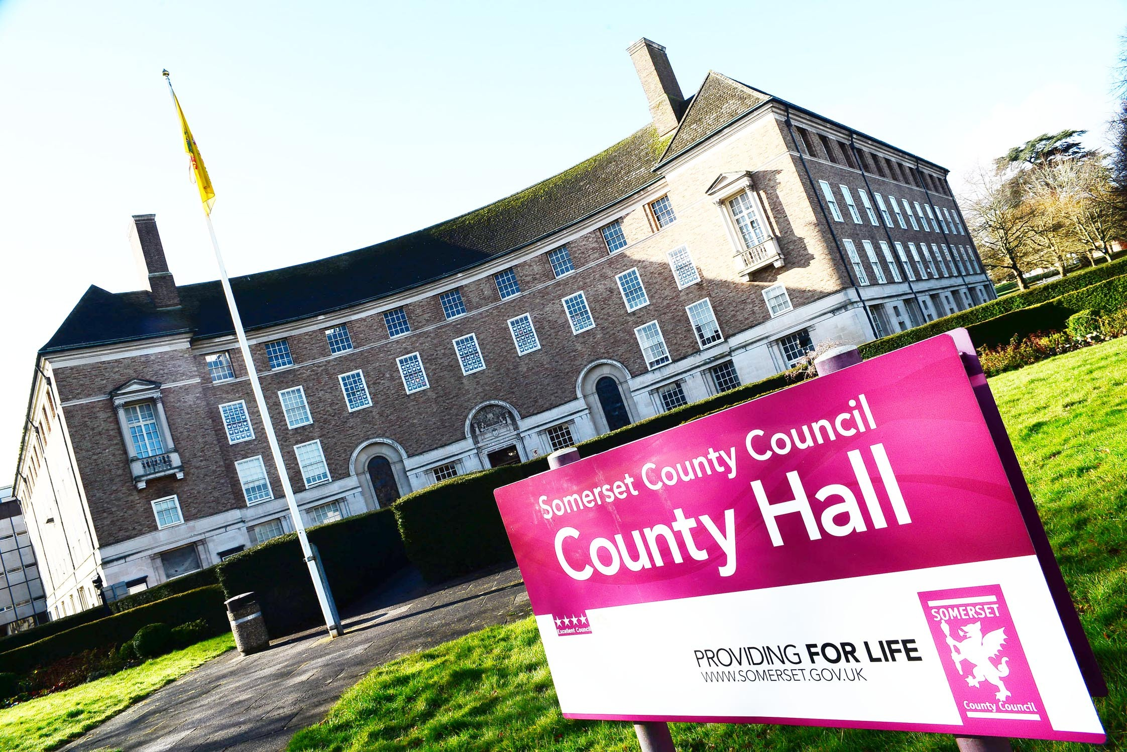 REPAIRS NEEDED: Block A at County Hall in Taunton