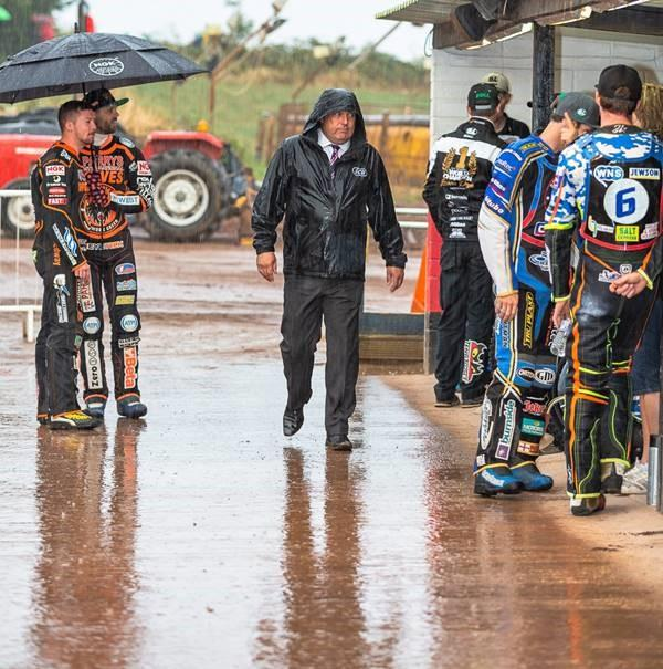 DAMP SQUIB: Heavy rain caused the postponement of Somerset Rebels v Wolverhampton. Pic: Colin Burnett