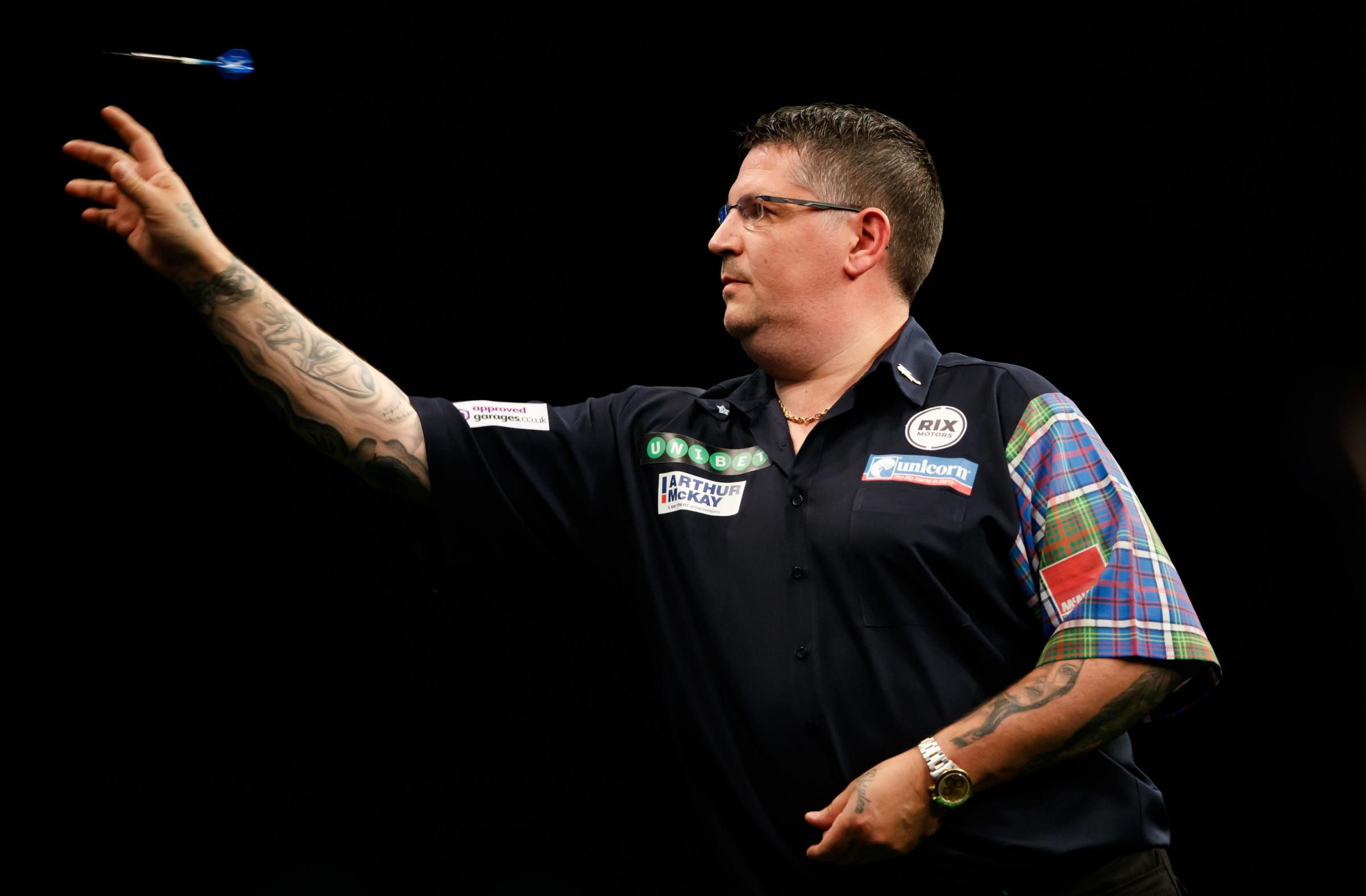 ACCUSATIONS FLYING: Gary Anderson in action. Pic: John Walton/PA Wire