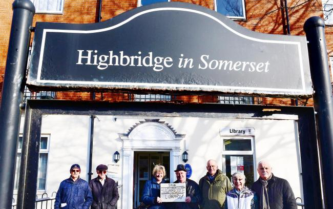 AT RISK: Protestors outside Highbridge LIbrary earlier this year