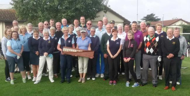 RECLAIMED: The two teams ahead of the Breanbury Niblick Trophy match last week.