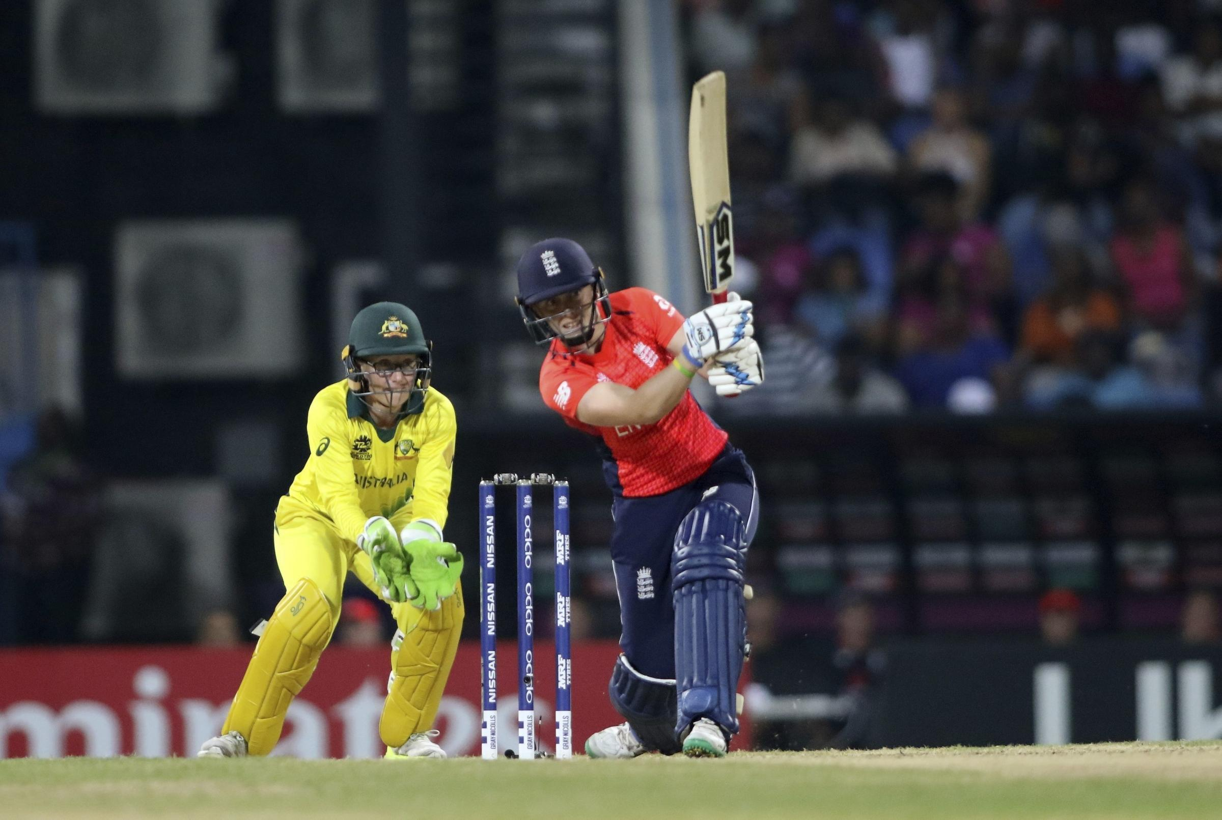 DEFEATED: England captain Heather Knight made 25 in a losing cause against Australia. Pic: PA