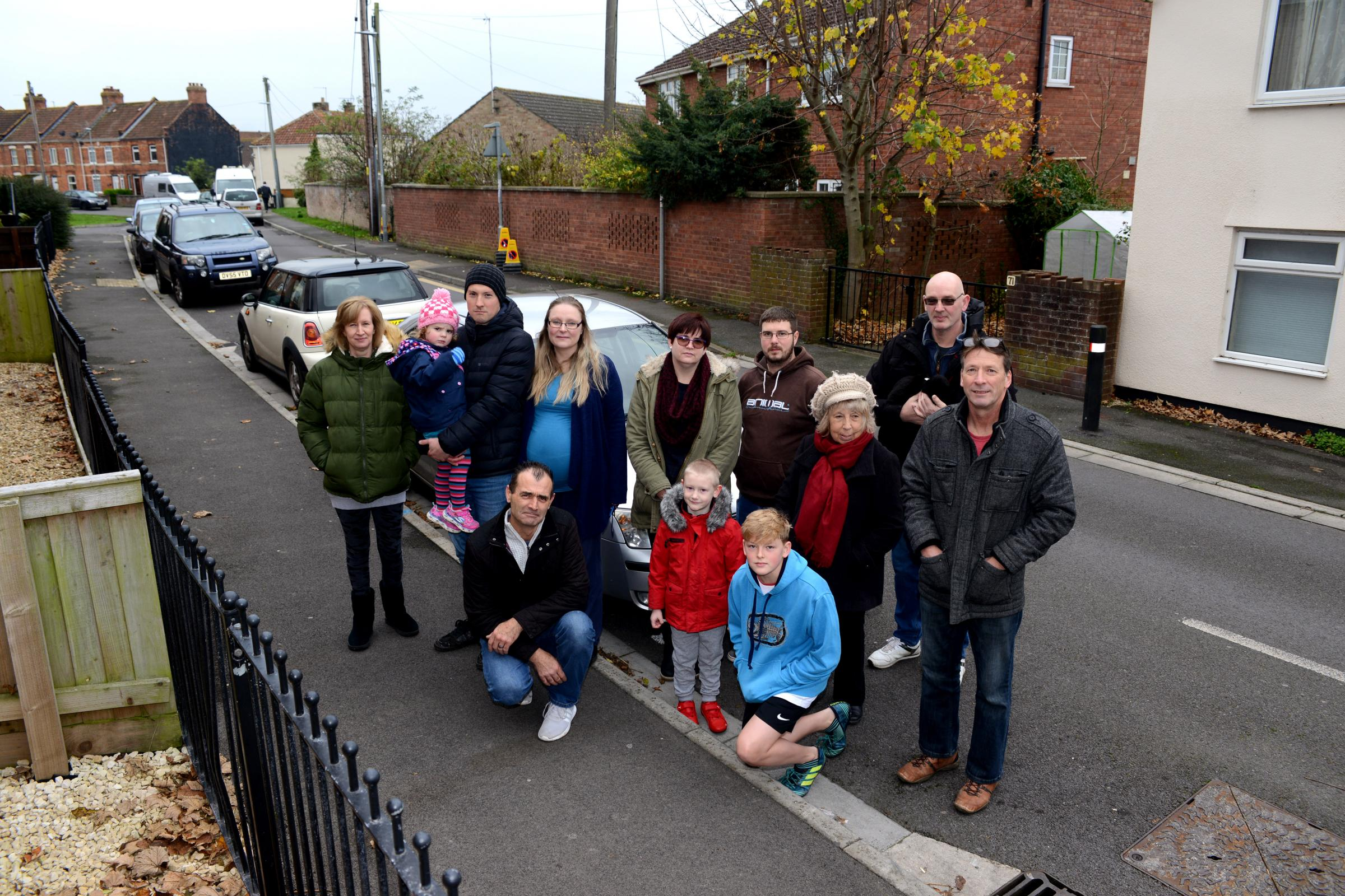 ANGER: Residents on Worston Road are against plans to extend double yellow lines further down the street