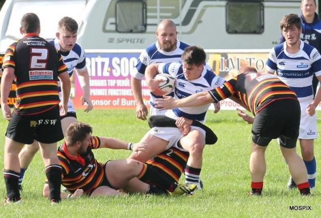 DECISIVE: Ash Cutter scored two tries for Burnham-on-Sea against Nailsea & Backwell. Pic: Mo Hunt