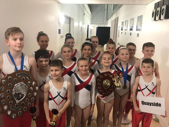 WINNERS: Young gymnasts from Quayside
