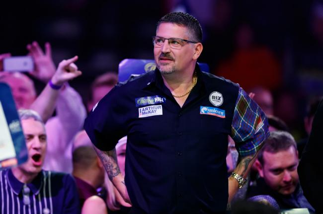 VICTORY: Gary Anderson in action at the William Hill World Darts Championship at Alexandra Palace. Pic: John Walton/PA Wire
