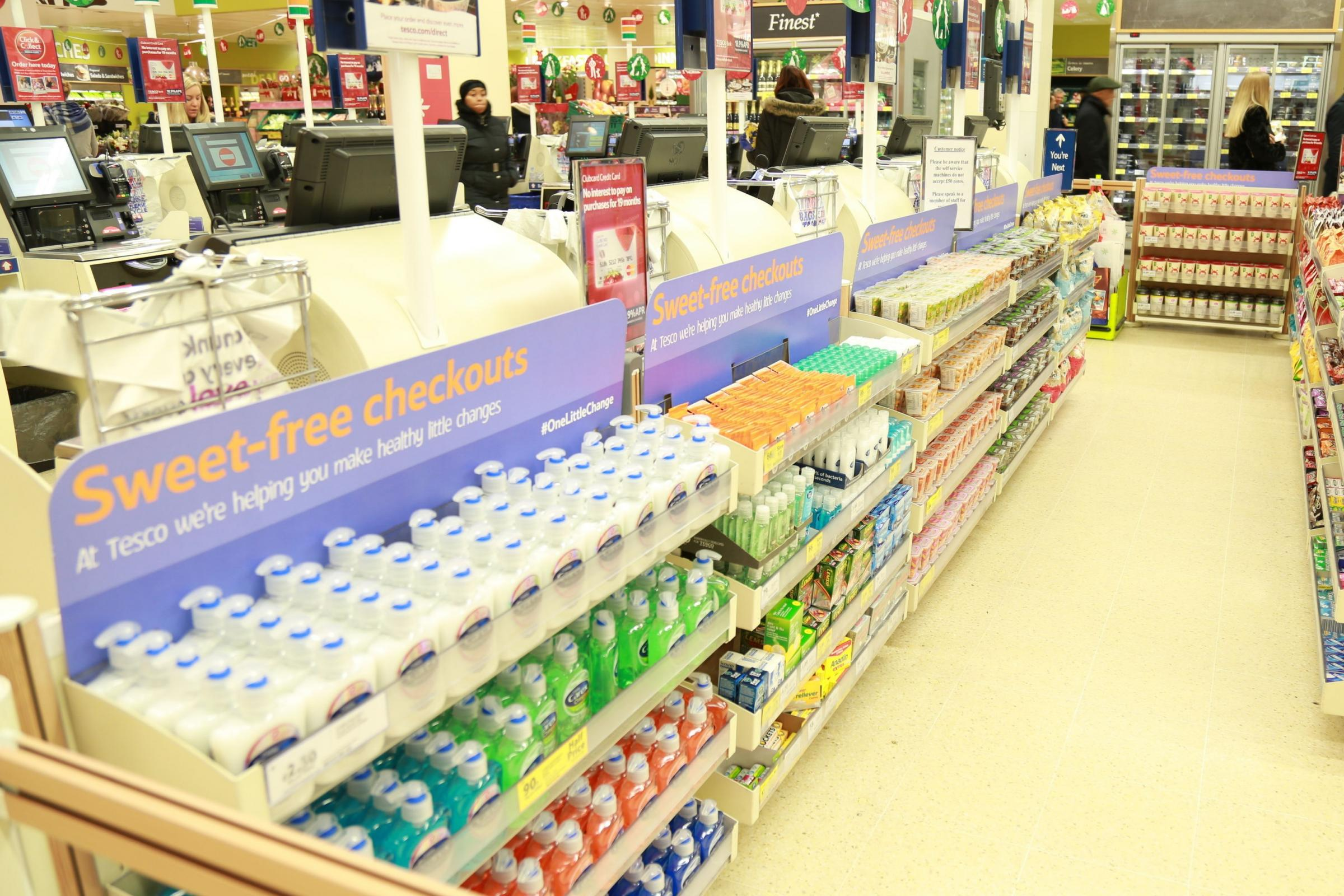 Sweets-free checkouts