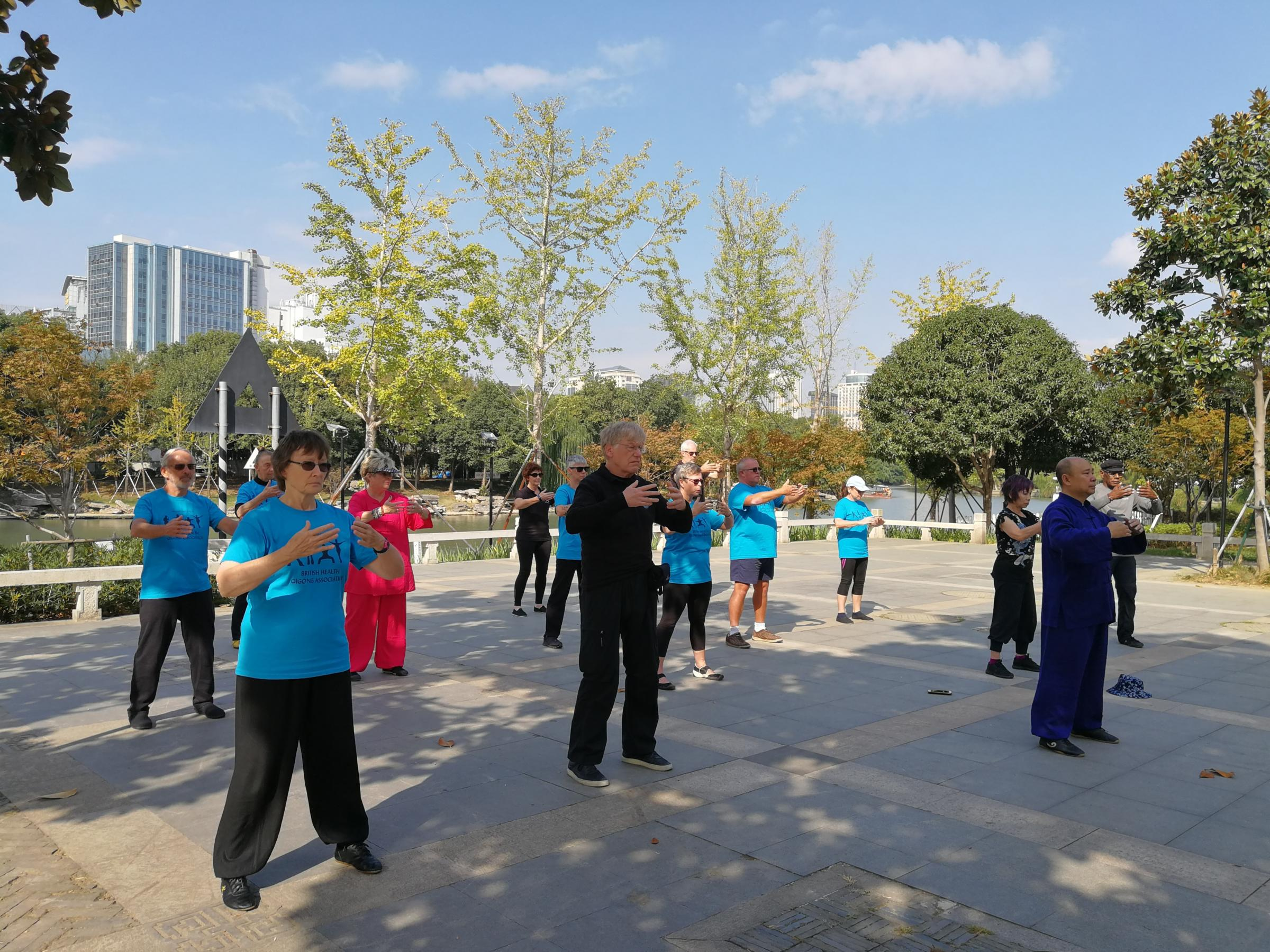 NEW CLASS: Cheryl Mountford teaching Tai-Chi in China last year