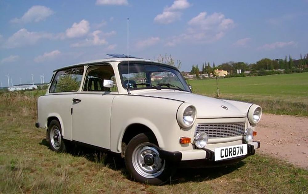 CAR-BYN: A computer mock up of how the number plate COR87N could look on a Trabant. Picture: SWNS