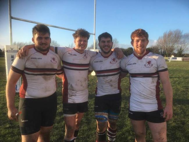 Burnham-on-Sea RFC's Somerset Under-20s quartet (from left): Birkan Gunduz, Jude Donnelly, Ashley Cutter and Eoghan Westoff