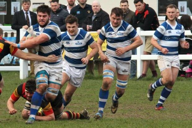 AWAY WIN: Ash Cutter was one of Burnham's try scorers against Imperial on Saturday. Pic: Mo Hunt/Mospix