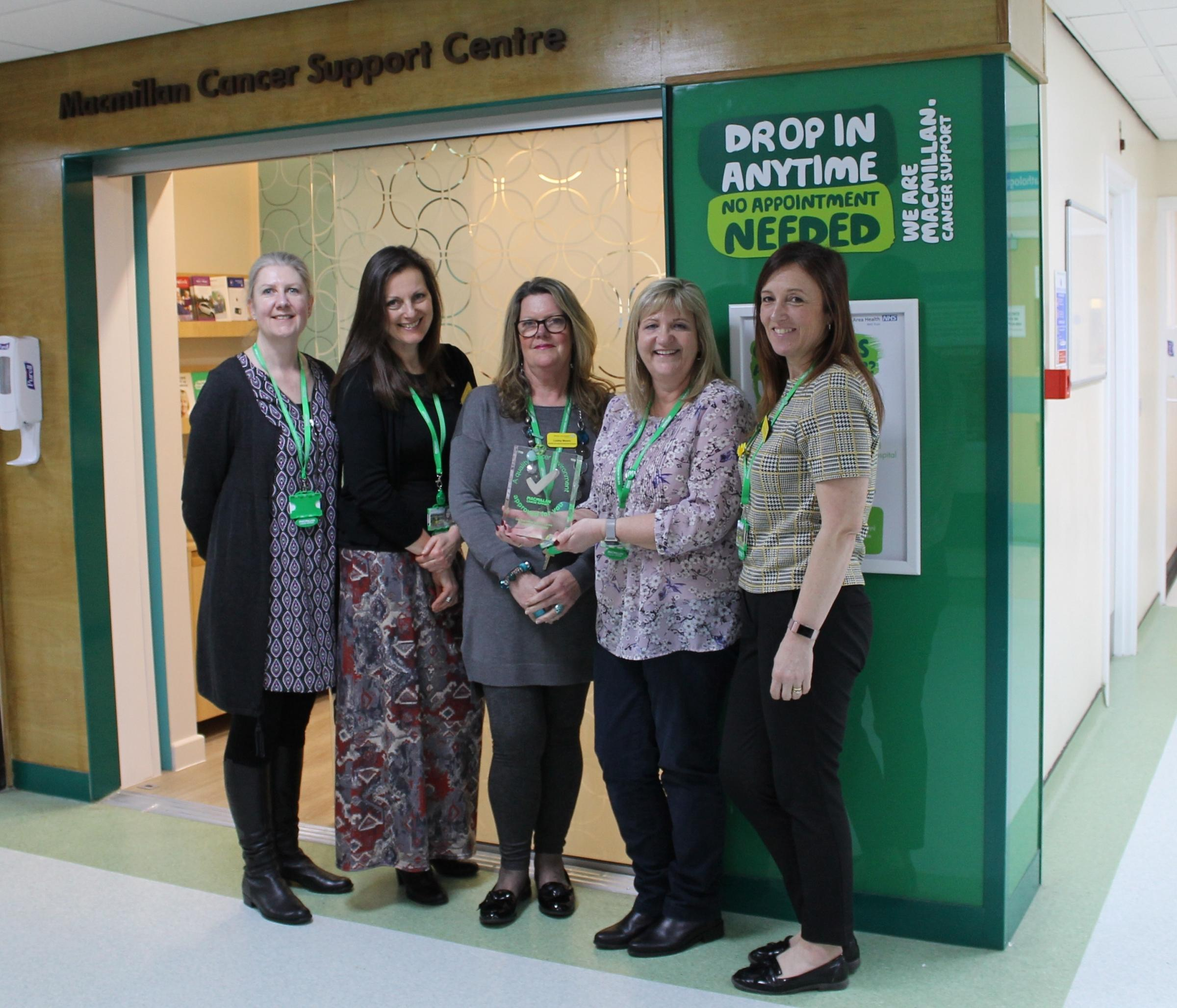 31222c48c9188 Weston Area Health NHS Trust (WAHT) Macmillan Cancer Support Centre wins top  marks for quality