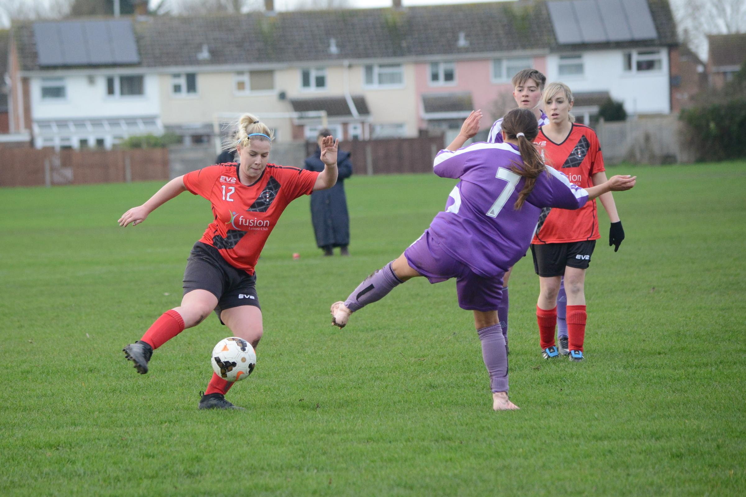 FINALE: Burnham United Ladies are gearing up for their final league game of the season. Pic: Aisling Magill