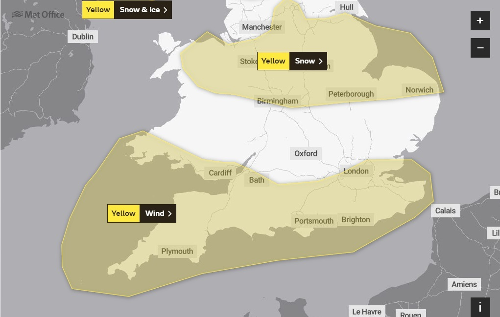 WARNING: Met Office issues warning for wind across the South West