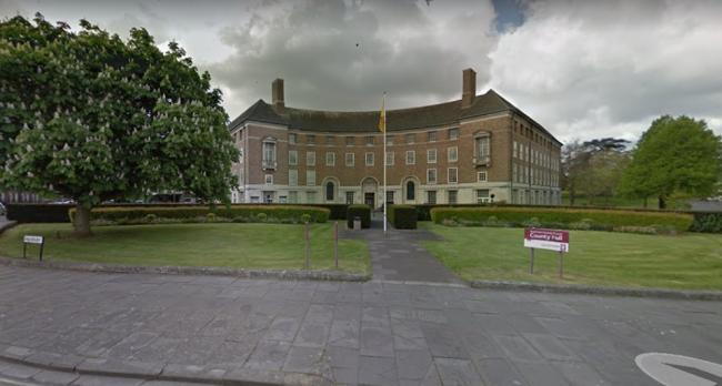 Somerset County Council Headquarters At County Hall In Taunton. CREDIT: Google Maps. Free for use for all BBC wire partners