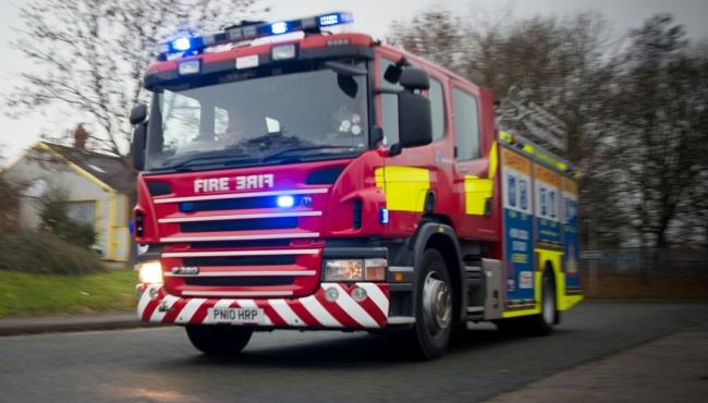 CALL OUT: Crews were called to Church Road in West Huntspill