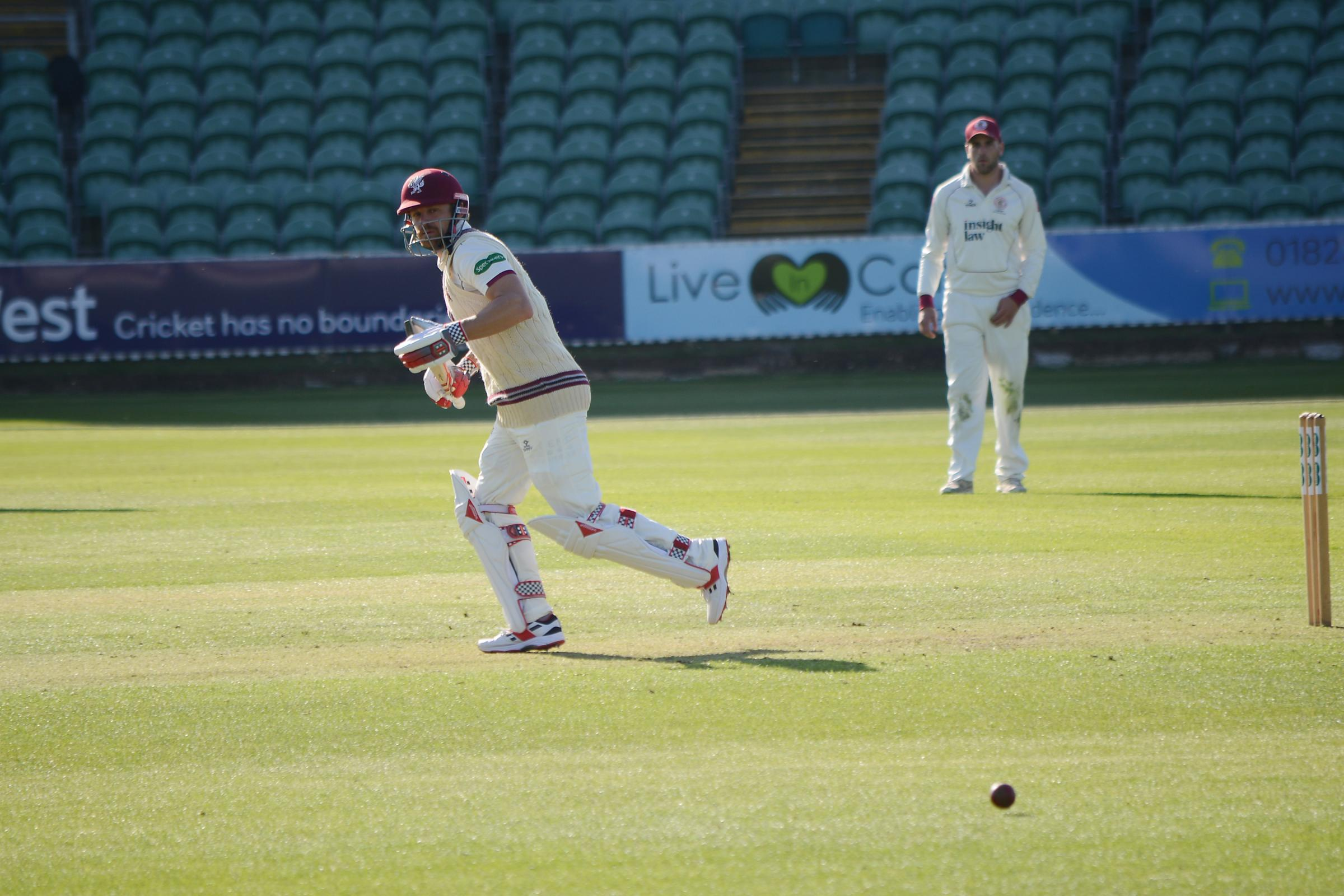 HALF-CENTURY: James Hildreth was in fine touch once again for Somerset. Pic: Aisling Magill