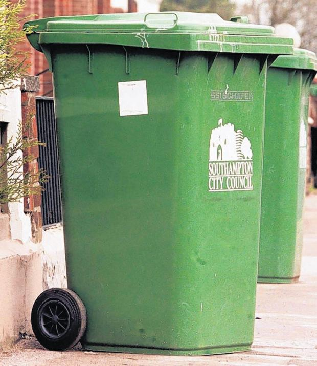Burnham and Highbridge Weekly News: A Southampton wheelie bin