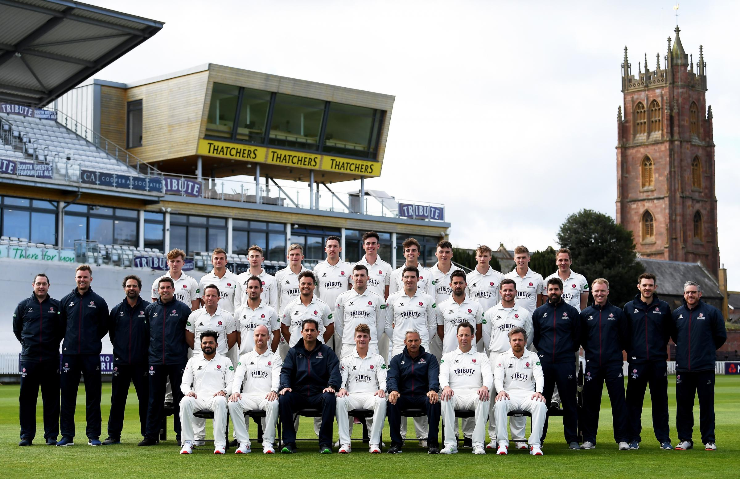 OPTIMISM: Somerset CCC's County Championship squad for 2019. Pic: SCCC
